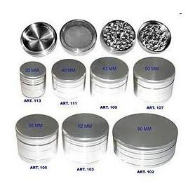 Grinder de aluminio plateado de 40 milímetros y 4 partes