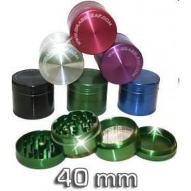 Grinder de aluminio de colores de 40 milímetros y 4 partes