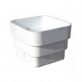 Maceta blanca de poliestireno con capacidad para 27 litros