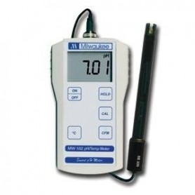 Medidor de PH Milwaukee MW102 con sonda de PH y temperatura