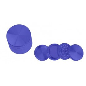 Grinder de aluminio de color azul con 55 milímetros de diámetro