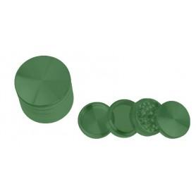 Grinder de aluminio de color verde con 55 milímetros de diámetro