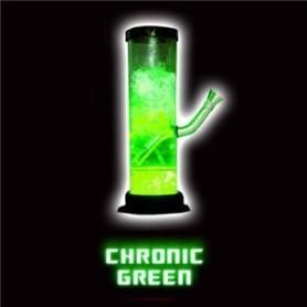 Bong acrílico Illuma de luz LED verde líquida