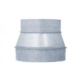 Reducción de 350 mm a 250 mm Galvanizado para Tubos Ventilación