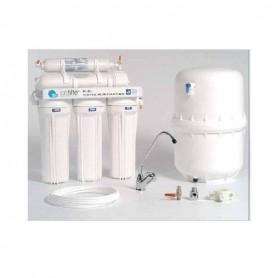Sistema de osmosis inversa sin bomba eléctrica que produce 150 litros al día