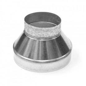Reducción de 250 mm a 125 mm Galvanizada para Tubo Ventilación