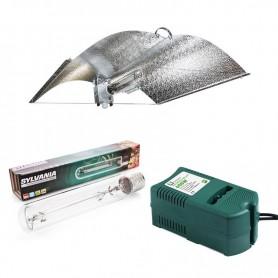 Kit de iluminación con reflector Adjust Wing, bombilla Sylvania Grolux de 600W y balastro ETI de 600w