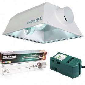 Kit 600w Radiant 150 + Sylvania Grolux + Balastro Clase 2
