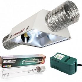 Kit 600w Radiant 200 + Sylvania Grolux + Balastro Clase 2