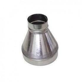 Reducción de 150 mm a 100 mm Galvanizada para Tubos Ventilación